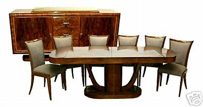 Beautiful 8-Piece Art Deco Dining Set c. 1930 #5736
