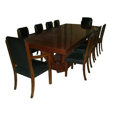 Understated 11-piece French Art Deco Dining Set circa 1920 #7025