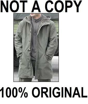 Original New German Army Military Nato Cold Weather Parka Jacket Coat M/l
