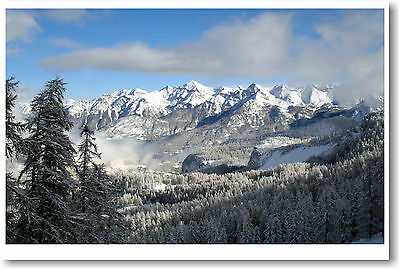 Z5587 The Skyrim Amazing Snowy Mountains 14x21 24x36 in Silk Poster Wall Art