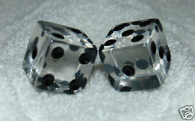 Clear Transparent Dice Pair