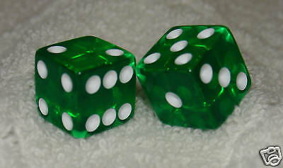 Green Transparent Dice Pair