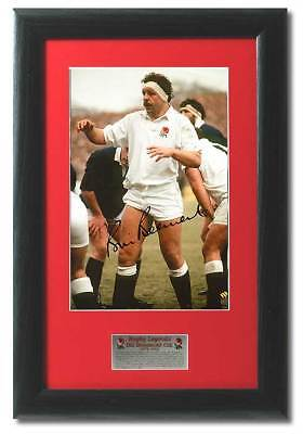 Bill Beaumont Hand Signed England Rugby Presntation COA