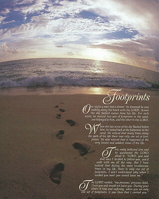 image about Poem Footprints in the Sand Printable titled DESIDERATA FOOTPRINTS In just THE SAND Poem Prayer Customized