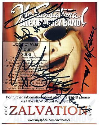 ALEX HARVEY BAND SIGNED PHOTO PP PHOTO delilah party #A