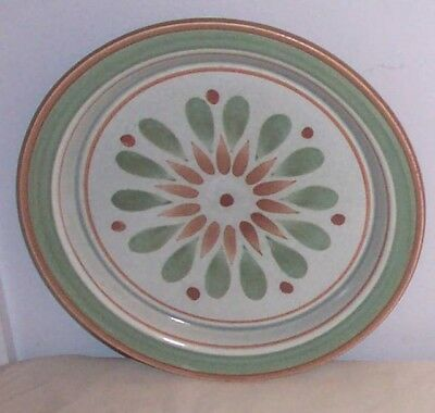Trinidad by Stangl Brown Gray Green Design Salad Plate