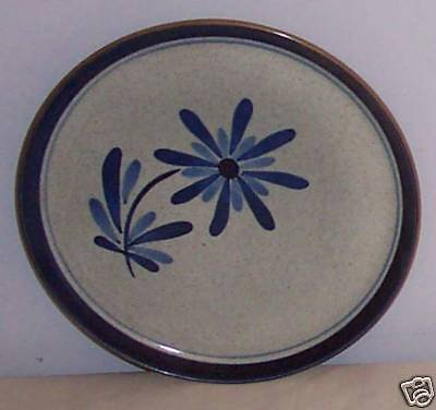Roxanne by Stangl Gray Blue Chop Plate Round Platter