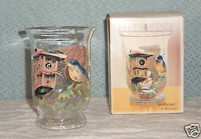 Fifth Avenue Crystal Hurricane Tealight  Birdhouse Mib