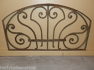 Sweet Arched Antique Art Nouveau  French Iron  Panel
