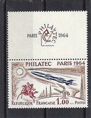 Timbre  Neuf Luxe °° N° 1422 Philatec Paris 1964 Avion