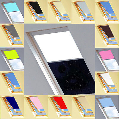 Blackout Thermal Skylight Roller Roofblind for every VELUX Window code & model