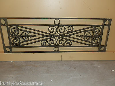 Gorgeous Antique Victorian Over The Door Iron Transom