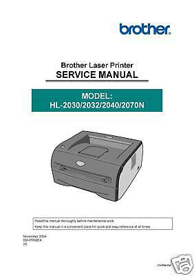 Brother HL-2030 HL-2032 HL-2040 HL-2070N SERVICE MANUAL