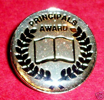 """PRINCIPAL'S AWARD"" Enamel Lapel Pins/Lot of 25/All New"