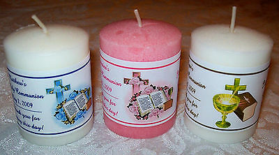14 FIRST 1st HOLY COMMUNION VOTIVE CANDLE LABELS PARTY FAVORS