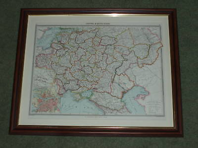 Print over 100 years old Map of Central & South Russia