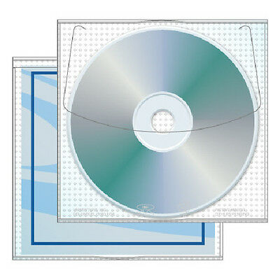 500 Premium Protective Lined CD, DVD, Blu-Ray Sleeves