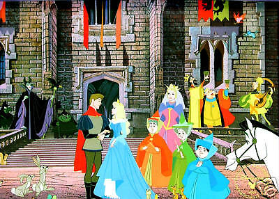 Disney Store Preorder Lithograph: SLEEPING BEAUTY 2003