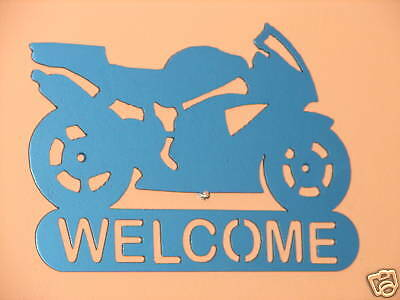 Sport Bike Welcome Sign Home Decor Wall Ducati Rocket