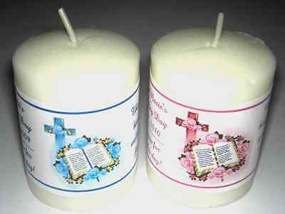 Baptism Christening Votive Candle Labels Party Favors