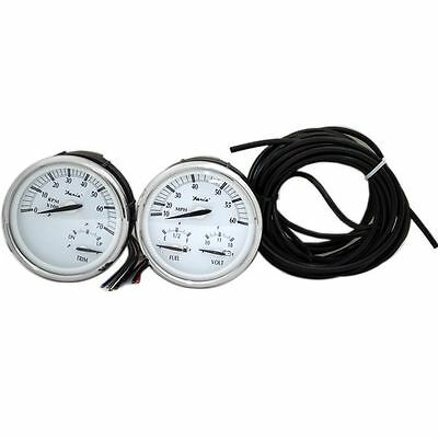 * FARIA 2 PIECE OVER-SIZED OUTBOARD BOAT GAUGE SET