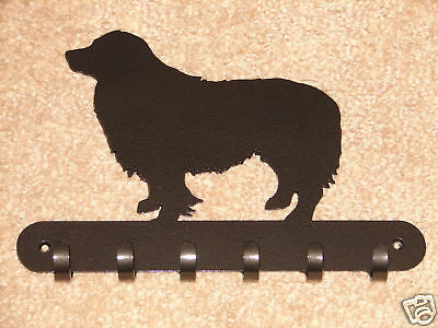 Border Collie Leash Rack Hat Key Coat Hook Wall Decor