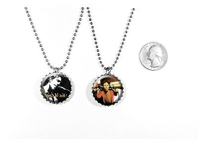 Tom Waits American singer-songwriter composer 2 sided necklace