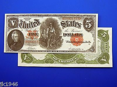 Reproduction $5 1907 LT US Paper Money Currency Copy