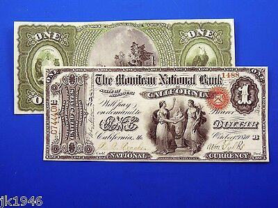 Reproduction $1 1870 National Bank Note US Paper Money Currency Copy