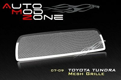 07-09 TOYOTA Tundra Wire Mesh Grille Grill Chrome Finish Stainless Steel
