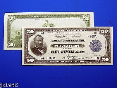 Reproduction $50 1918 FRBN US Paper Money Currency Copy
