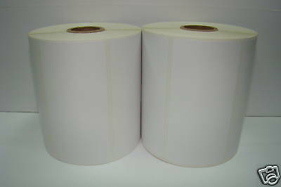 4 Rolls of 950 4x1.5 Direct Thermal ZP 450 Zebra 2844 Labels