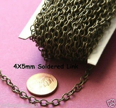 32 ft Spool Silver Plated Soldered Round Cable Chain 2.5x3.3mm