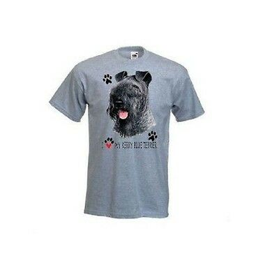 I Love My Kerry Blue Terrier Design Printed T-Shirt