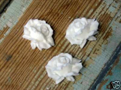 Shabby & Chic Roses  ( 3 ) Furniture Appliques  Crafts