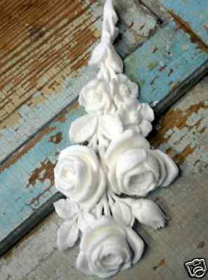 Shabby & Chic Rose Bouquet French Drop / Furniture Applique