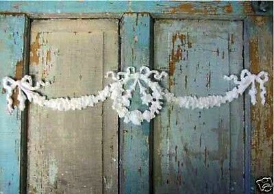 Shabby & Chic Rose Wreath Ribbon Swags / Furniture Appliques / Onlays