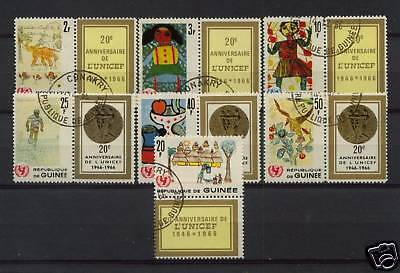 Guinea 1966 SG#567-73 UNICEF+Labels Cto Used Set