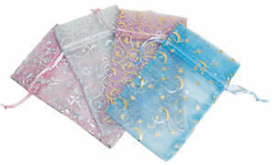 24 Assorted Drawstring Fancy Silk Pouch Bags #3 #4
