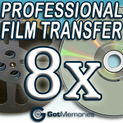 8X 5INCH 200FT 8MM 16MM SUPER 8 MOVIE FILM TO DVD $224