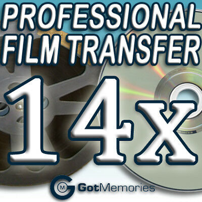 14X 5INCH 200FT 8MM 16MM SUPER 8 MOVIE FILM TO DVD $392