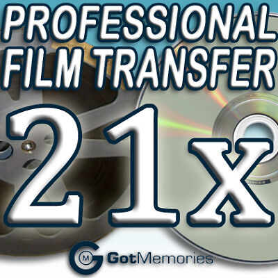 21X 5INCH 200FT 8MM 16MM SUPER 8 MOVIE FILM TO DVD $588