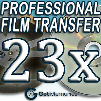 23X 5INCH 200FT 8MM 16MM SUPER 8 MOVIE FILM TO DVD $644