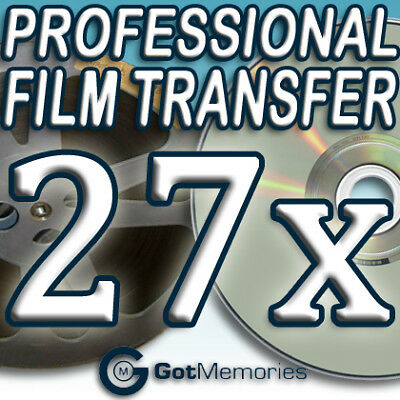 27X 5INCH 200FT 8MM 16MM SUPER 8 MOVIE FILM TO DVD $756