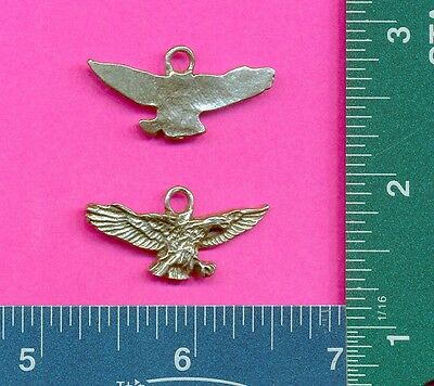 12 wholesale lead free pewter eagle pendants 5041