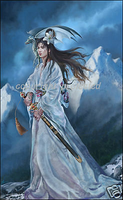 Nene Thomas LORD OF SNOW Limited Edition LE Signed Print Dragon Asian Warrior