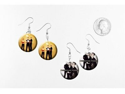 DEPECHE MODE  2 pairs of button charm EARRINGS