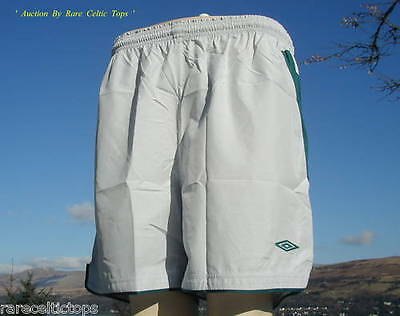 BNWT Celtic FC player Issue Silver Green Away Shorts Season 2004-2005 Size XXL