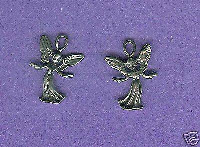 100 wholesale lead free pewter angel charms 1061