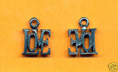 100 wholesale lead free pewter love charms 1094